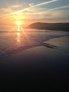 Sunset at Croyde Bay, north devon Devon Devon, Devon And Cornwall, North Devon, Devon Holidays, Seaside Holidays, British Beaches, South West Coast Path, Visit Uk, Places In England