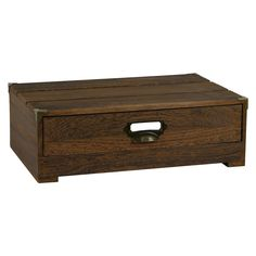 • low storage cabinet<br>• rustic, vintage-inspired design<br>• wood grain finish<br>• pull-out drawer<br><br>Bring a tasteful, rustic look to your space with the Storage - Threshold™. This fine piece of home decor boasts a classic look that fits nicely in both modern and traditional interiors, and works well in a foyer or kitchen for storing linens, winter wear and more.