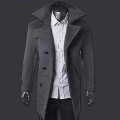 Пальто мужское приталенное укороченное