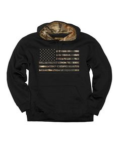 Look what I found on #zulily! Black Camo Stars & Stripes Pullover Hoodie - Men's Regular #zulilyfinds