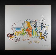 "CSNY Crosby Stills Nash & Young ""So Far"" 1970s Vinyl LP by UniversalVinyl on Etsy https://www.etsy.com/listing/225774539/csny-crosby-stills-nash-young-so-far"