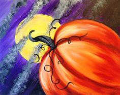 Moonlit Pumpkin 10/16/2014 - Creatively Uncorked