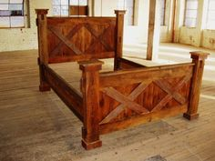 "Reclaimed Barn Wood Beds - King, Queen and Day ""I love reclaimed wood"""