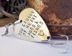 You Caught my Heart Fishing Lure Gift for Dad by CandTCustomLures