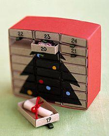 Saját készítésű adventi naptár