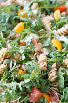 Lemon Arugula Pasta Salad   tomatoboots.co