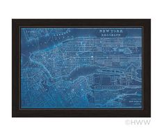 Map Of New York And Brooklyn Framed Graphic Art