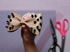 DIY Hot Trends - ROCKING LEATHER HAIR BOWS