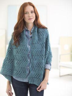 Chevron Shawl By Missy Marshall - Free Crochet Pattern With Website Registration - (lionbrand)