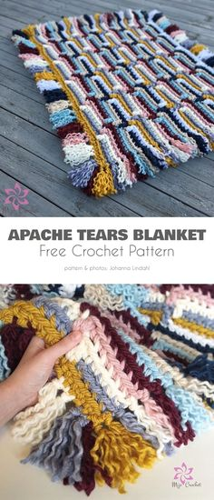 EARTHY Saguaro Print Afghan//Crochet Pattern INSTRUCTIONS ONLY