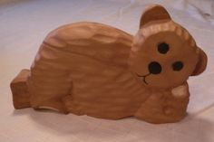 Handcarved Bear in Wood by PatriciaBrewerArtist on Etsy, $21.00