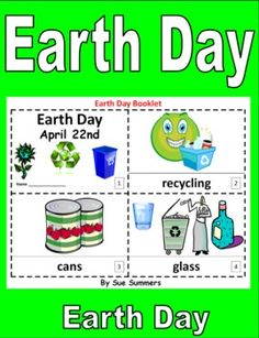 Earth Day 2 Emergent Reader Booklets by Sue Summers - ENGLISH - One with text and images, one with text only so students can sketch and create their own versions of the booklets. Great for study of the environment!