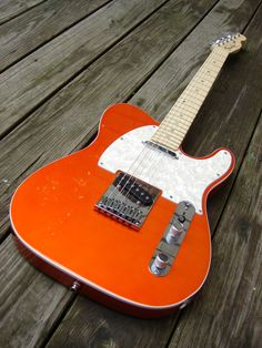 All i want for xmas is a Candy Tangerine Telecaster Vintage Telecaster, Telecaster Guitar, Fender Guitars, Vintage Guitars, Jazz Guitar, Guitar Amp, Cool Guitar, Fender Esquire, Rare Guitars