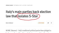 La riforma della legge elettorale italiana fa il giro del mondo. Per il governo è una figuraccia internazionale. Ecco le traduzioni degli articoli di alcuni giornali e agenzie. Ci sarebbe da ridere, se non ci fosse di mezzo la democrazia in Italia.
