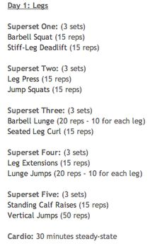 #legs #superset