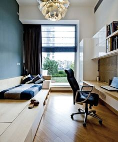 6 Ways to Design a Guest Room | Tip: Get a platform storage bed. You can put a futon or mattress on top. Ample DESIGN/Houzz