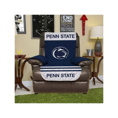 Penn State Nittany Lions Quilted Recliner Chair Cover, Blue