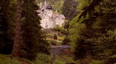 Cragside House in autumn