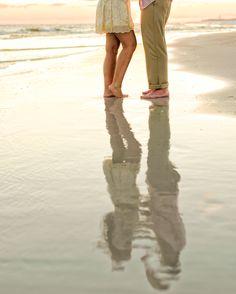 Reflect! #DestinBeachPhotography #DestinFL #EmeraldCoast #EngagementPortraits