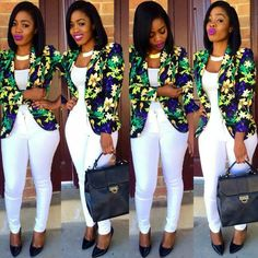 Beautiful Business Casual Attire for the Ladies African Attire, African Wear, African Dress, Classy Work Outfits, Chic Outfits, African Print Fashion, African Fashion Dresses, Curvy Fashion, Look Fashion