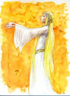I sang of leaves of gold... by Pika-la-Cynique.deviantart.com on @deviantART Galadriel