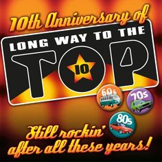 Long Way To The Top 2012 is HERE! Show is Saturday 6th October. Tickets on sale Friday 10 August. This yearfeaturesAxiom, Brian Cadd, Dragon, Marcia Hines, Col Joye, Masters Apprentices' Jim Keays, Dinah Lee, Mi-Sex, Russell Morris, Ian Moss, Noiseworks, Doug Parkinson, Little Pattie, Glenn Shorrock, Spectrum, Lucky Starr, Chain's Matt Taylor & Phil Manning & John Paul Young… Some of the best from the 60s, 70s, and 80s!