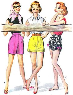 1950s Womens Shorts Pattern McCalls 4022 Bermuda by paneenjerez, $16.00
