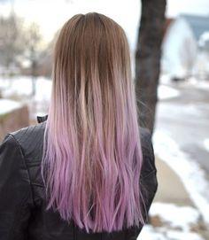 Lilac dip-dye