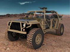Jeep with a exoskeleton of rails // nice!