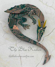 green dragon brooch by thebluekraken on DeviantArt