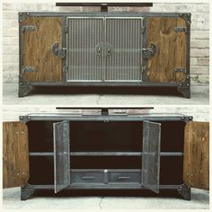 Modern Industrial Furniture — A peak inside… dual steel drawers for your game...