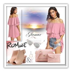 """""""Romwe Pink"""" by jasmin-ba ❤ liked on Polyvore featuring ASOS"""