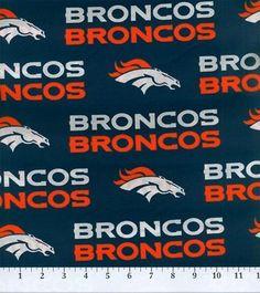 Denver Broncos NFL Cotton Fabricby Fabric Traditions