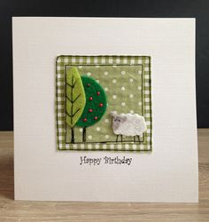 Your place to buy and sell all things handmade Fabric Cards, Fabric Postcards, Paper Cards, Embroidery Cards, Free Motion Embroidery, Machine Embroidery, Hand Made Greeting Cards, Making Greeting Cards, Card Making Inspiration