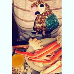 """Crab legs for days. Vacationing in the MM """"Tucan Twinkle"""" tee. #myrtlebeach"""