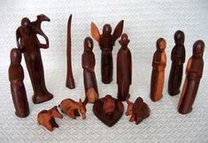 Nativity set from Kenya. (More sets pictured on site) #holiday #christmas