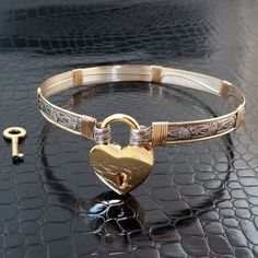 BDSM Submissive Locking Day Bondage Collar, Sterling Silver with Gold Filled Accents, Soft and Sweet, Floral, Romantic Bracelets En Argent Sterling, Sterling Silver Jewelry, Gold Jewelry, Silver Rings, Silver Bracelets, Ankle Bracelets, 925 Silver, Collars Submissive, Slave Collar