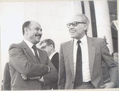 Rachid Sfar Ministre de la santé avec son homologue algérien Abderrazak Bouhara en 1982