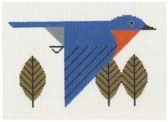 Cross Stitch Embroidery charley harper cross stitch - Charley Harper is one of my favorite artists. His animal lithographs are breath-taking, yet I can't afford to wallpaper my walls in them as I would like. Cross Stitch Bird, Cross Stitch Animals, Cross Stitch Charts, Cross Stitch Designs, Cross Stitching, Cross Stitch Embroidery, Embroidery Patterns, Cross Stitch Patterns, Cross Stitch Geometric