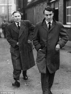 Bill Nicholson, 1st team manager (Tottenham Hotspur FC, 1958–1974) and James 'Jimmy' Greaves (Tottenham Hotspur FC, 1961–1970, 321 apps, 220 goals).
