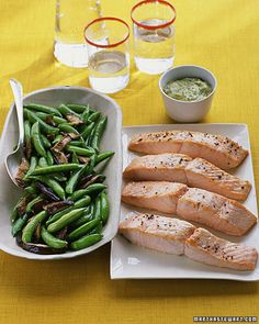 salmon with herb mustard