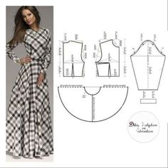 <img> S, M, L, XL Size Please comment to support & click begen button. Support to support us, please like and comment❤ - Long Dress Patterns, Dress Sewing Patterns, Clothing Patterns, Fashion Sewing, Fashion Fabric, Diy Fashion, Dress Fashion, Diy Clothing, Sewing Clothes