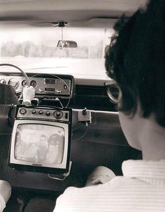 Ford's car television, 1965  I have to say that we had a TV in the VW Bus in the 1970s!  So maybe these were more common than I thought.