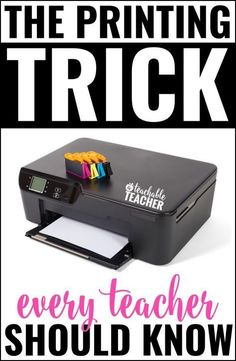 Are you looking for a way to print with endless colored ink on a budget? This printing trick is one of the best things that ever happened to me as a teacher! | printing tips | save ink | teaching tips | teacher tips | tips for teachers | save ink cartridges | saving money | printing hacks for teachers | classroom supplies | classroom organization | back to school | classroom ideas | low cost teaching aids