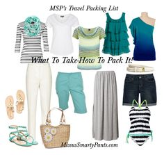 Get the what to pack list, how to pack it + travel wardrobe planning chart! All this week at MissusSmartyPants.com