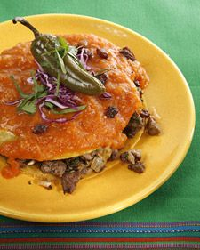 """Beef Enchiladas    This delicious recipe is courtesy of Roberto Santibanez's cookbook, """"Rosa's New Mexican Table."""""""