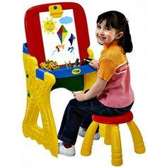 Crayola Play Desk Chalkboard Kids Art Studio