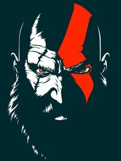 God of war 4 Kratos God Of War, Gaming Wallpapers, Animes Wallpapers, God Of War Series, God Of War 3, Black Phone Wallpaper, Joker Art, Stencil Art, Video Game Art
