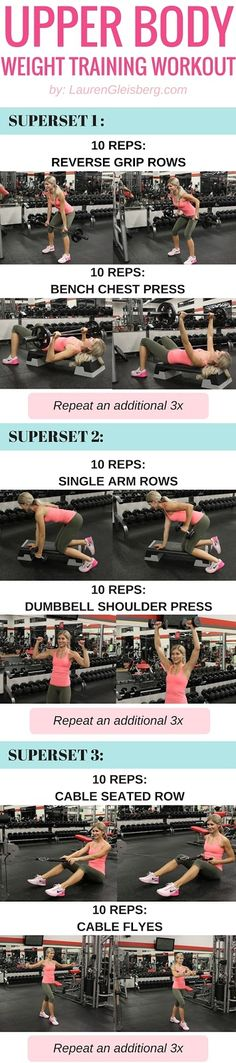 GET FIT STRONG & SEXY WITH THIS UPPER BODY WEIGHT TRAINING WORKOUT FOR WOMEN…