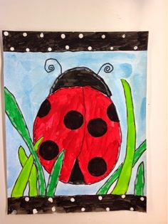 Color It Like you MEAN it!: 1st grade ladybugs Art By Me project
